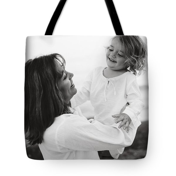 Portrait Of Mother And Daughter Tote Bag by Michelle Quance