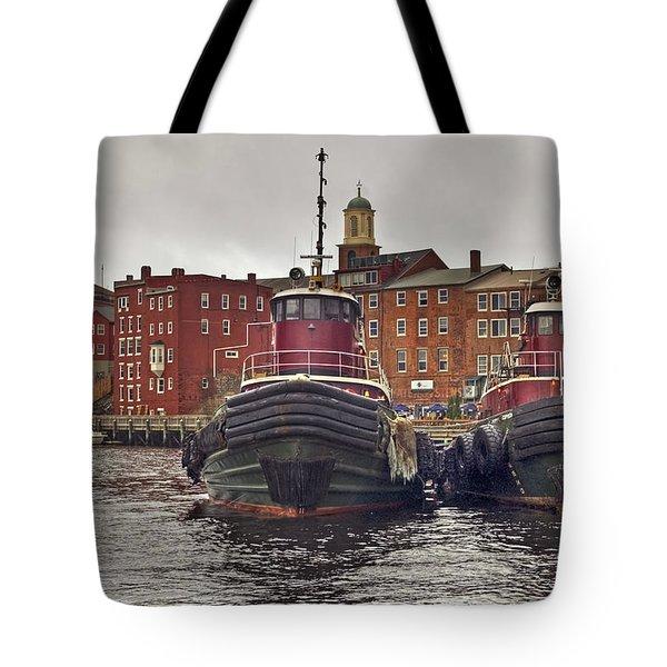 Portsmouth Tugs Tote Bag by Joann Vitali