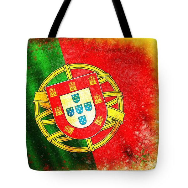 portugal flag  Tote Bag by Setsiri Silapasuwanchai