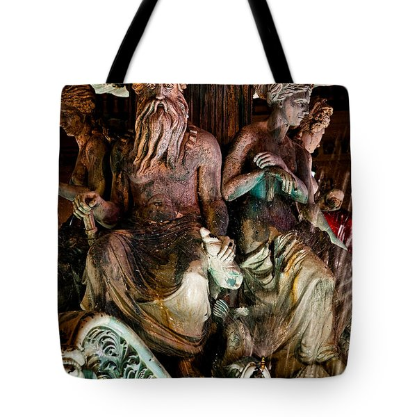 Poseidon And Friends Tote Bag by Christopher Holmes