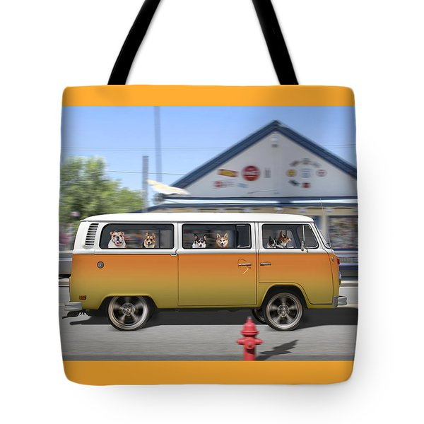 Postcards From Otis - Road Trip  Tote Bag by Mike McGlothlen