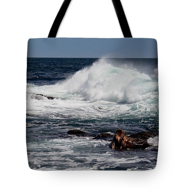 Pounding Tote Bag by Michel Soucy