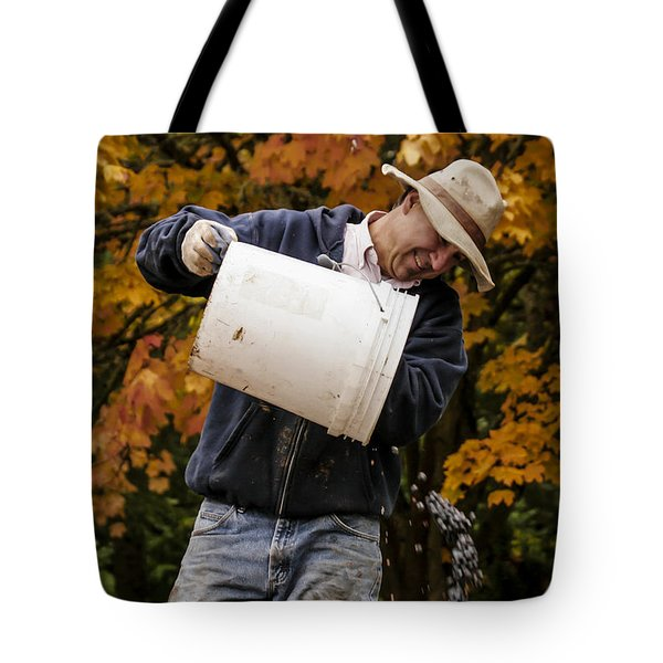 Pouring Wine Tote Bag by Jean Noren