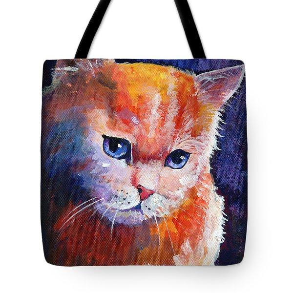 Pouting Kitty Tote Bag by Sherry Shipley