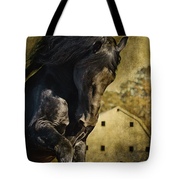 Power House Horse D1496 Tote Bag by Wes and Dotty Weber