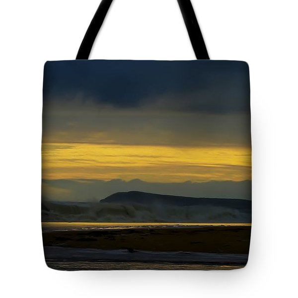 Powlett River On A Stormy Morning Tote Bag by Blair Stuart