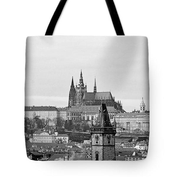 Prague - City Of A Hundred Spires Tote Bag by Christine Till