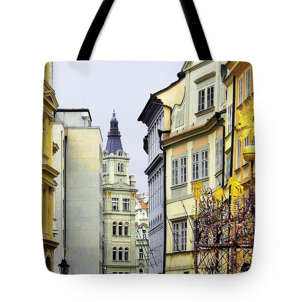 Prague - Walking In The Footsteps Of Kings Tote Bag by Christine Till