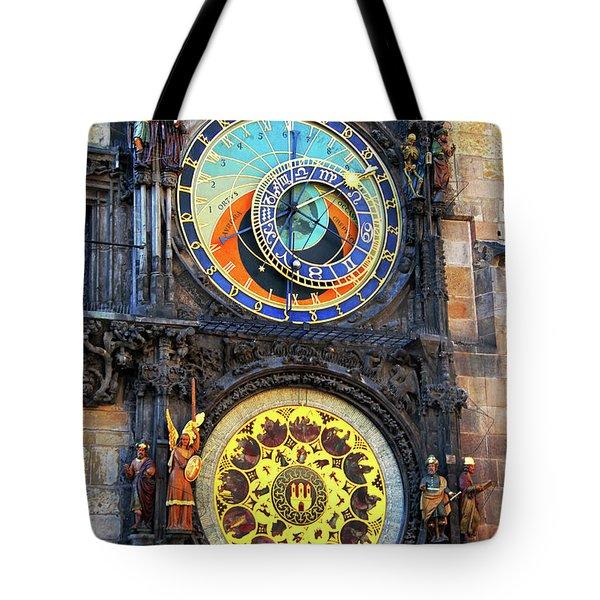 Prague Astronomical Clock 2 Tote Bag by Mariola Bitner