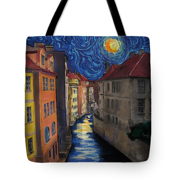 Prague By Moonlight Tote Bag by Jo-Anne Gazo-McKim