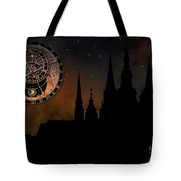 Prague casle - Cathedral of St Vitus - monuments of mysterious c Tote Bag by Michal Boubin