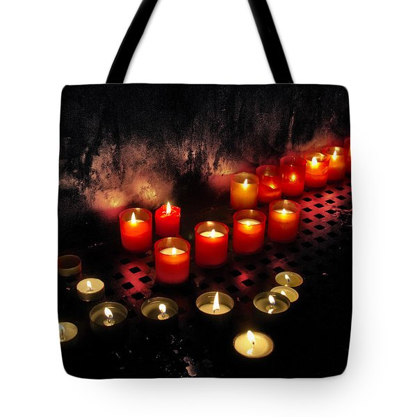 prague church candles Tote Bag by Stylianos Kleanthous