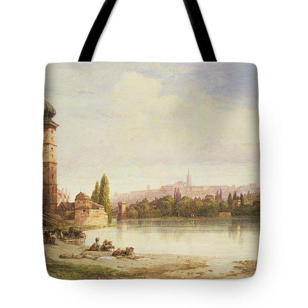 Prague Czechoslovakia Tote Bag by William Wyld