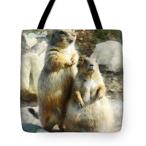 Prairie Dog Formal Portrait Tote Bag by Susan Savad