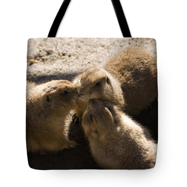 Prairie Dog Gossip Session Tote Bag by Trish Tritz