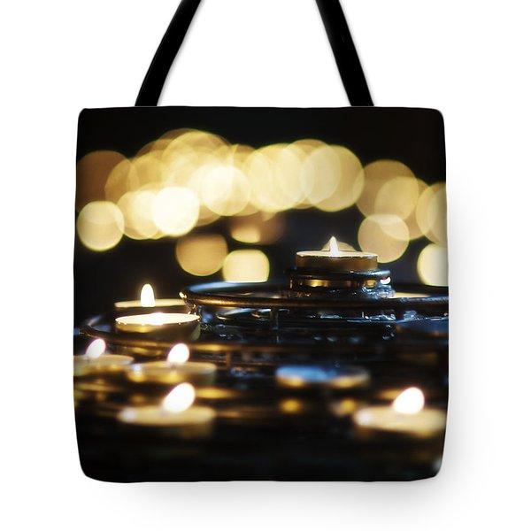 Prayer Candles Tote Bag by Beth Riser
