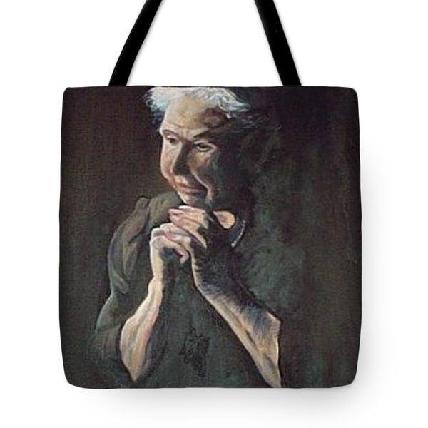 Prayer Tote Bag by Joyce Reid