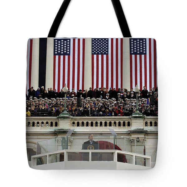President George W. Bush Makes Tote Bag by Stocktrek Images