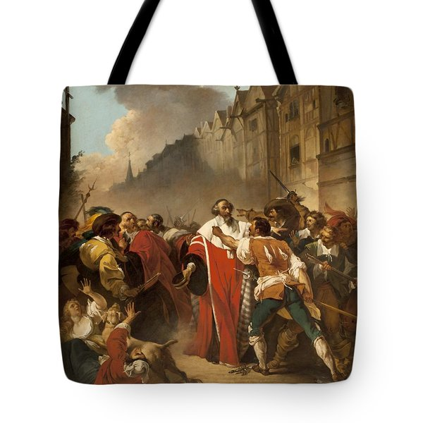 President Mole Manhandled By Insurgents Tote Bag by Francois Andre Vincent
