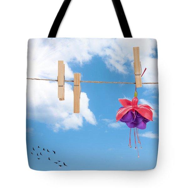 Pretty Fuchsia Head  Tote Bag by Amanda Elwell