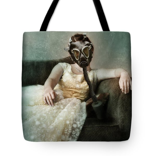 Princess In Gas Mask 2 Tote Bag by Jill Battaglia