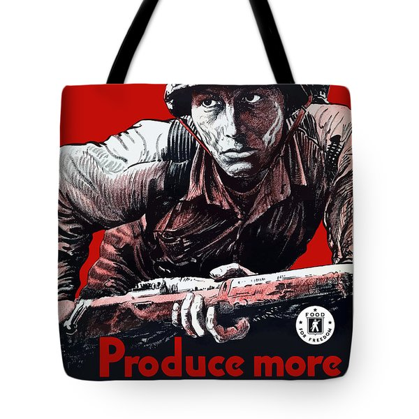 Produce More Milk For Him Tote Bag by War Is Hell Store