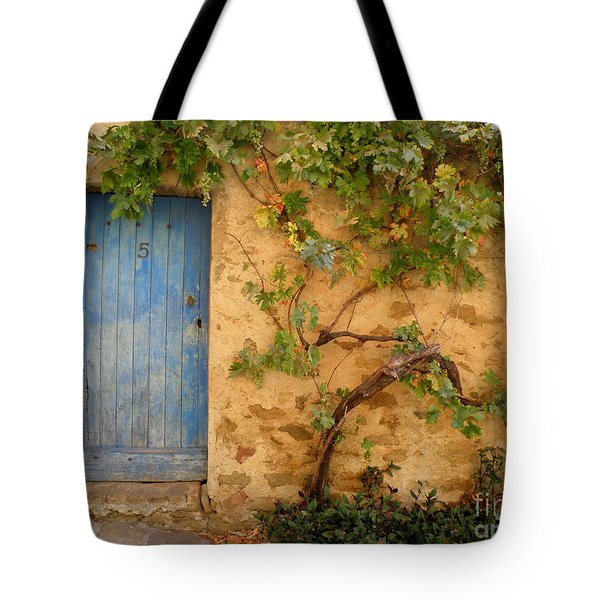 Provence Door 5 Tote Bag by Lainie Wrightson