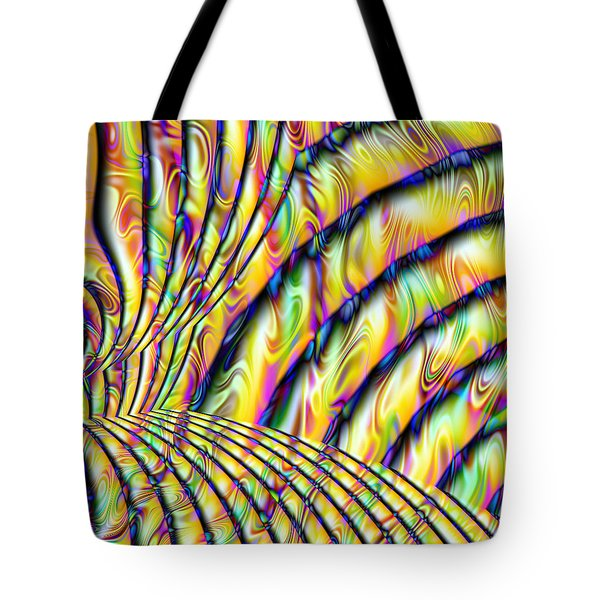 Psychedelic Fractal Tote Bag by Gina Lee Manley