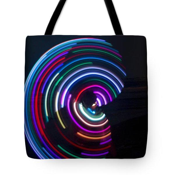 Psychedelic Hula Hoop Tote Bag by Ilan Rosen