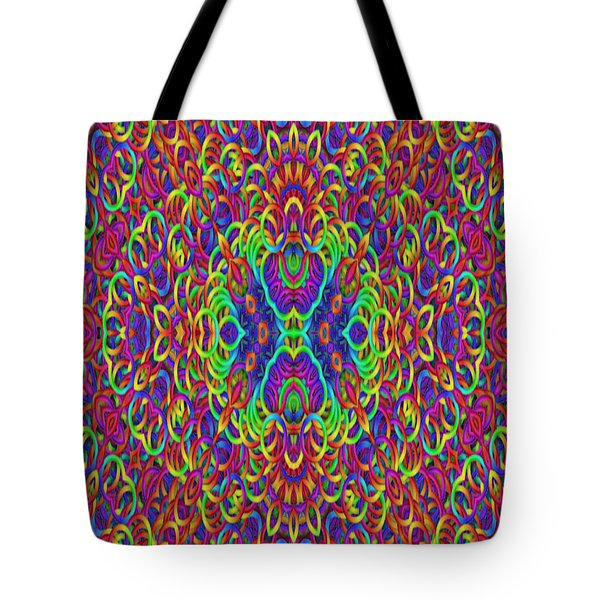 Psychedelic Kaleidoscope Tote Bag by Gina Lee Manley