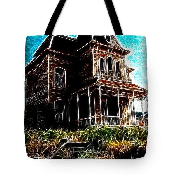 Psycho House Tote Bag by Paul Van Scott