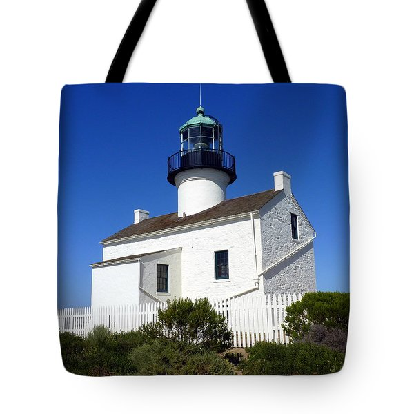 Pt. Loma Lighthouse Tote Bag by Carla Parris