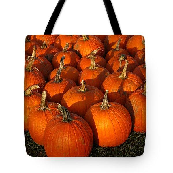 Pumpkin Strike Tote Bag by LeeAnn McLaneGoetz McLaneGoetzStudioLLCcom