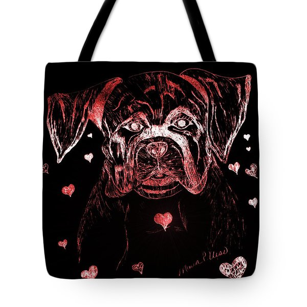Puppy Love Tote Bag by Maria Urso