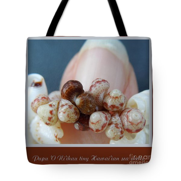 Pupu 'o Ni'ihau Tote Bag by Renee Trenholm
