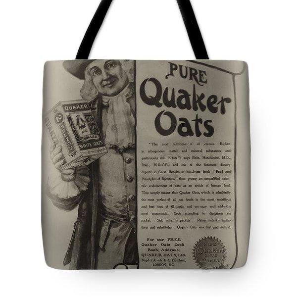 Pure Quaker Oates Tote Bag by Bill Cannon