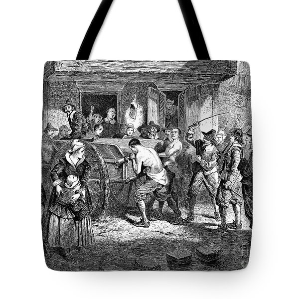 Puritans And Quakers, 1677 Tote Bag by Granger