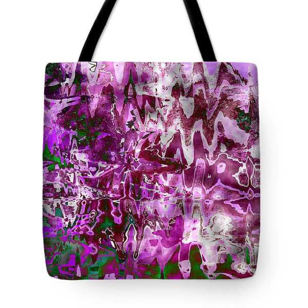 Purple Abstract Tote Bag by Carol Groenen