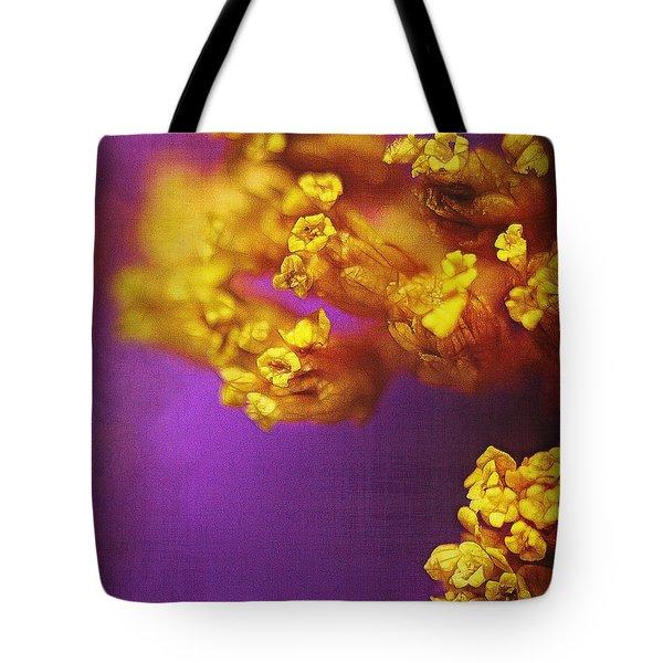 Purple And Gold 2 Tote Bag by Judi Bagwell