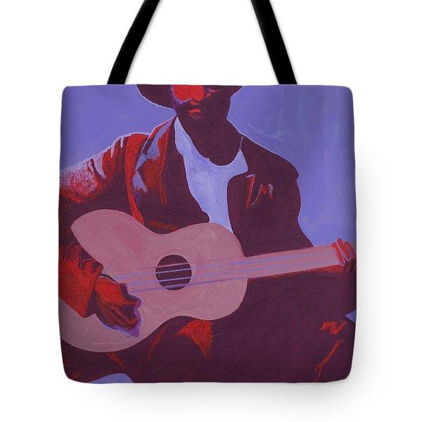 Purple Blues Tote Bag by Kaaria Mucherera