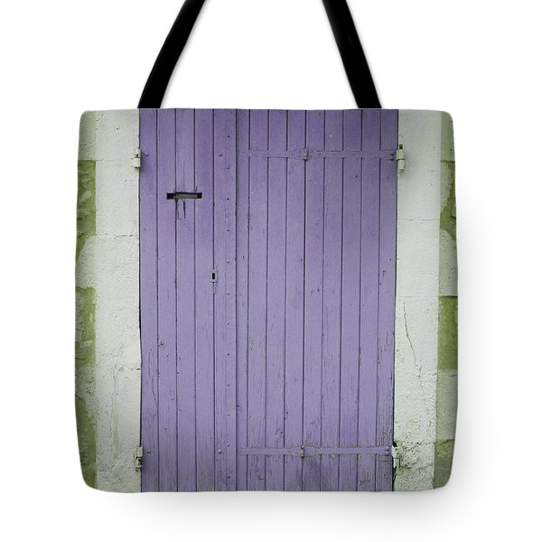 Purple Door Number 46 Tote Bag by Nomad Art And  Design