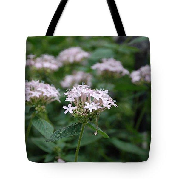 Purple Flower Tote Bag by Jennifer Lyon
