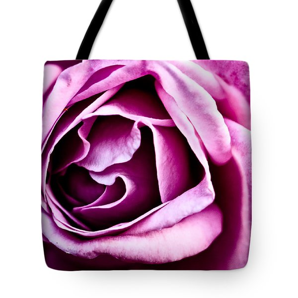 Purple Folds Tote Bag by Christopher Holmes