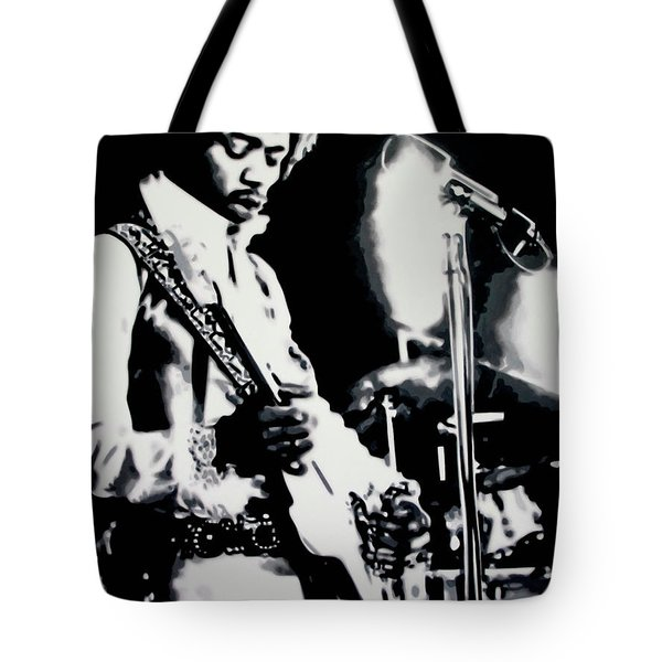 Purple Haze Tote Bag by Luis Ludzska