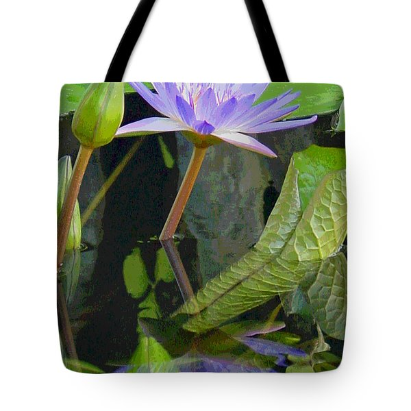 Purple Lotus Tote Bag by Suzanne Gaff