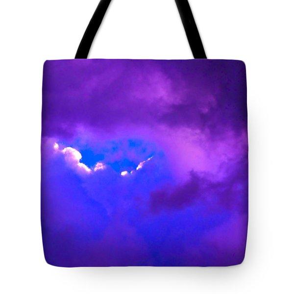 Purple Storm Tote Bag by Gwyn Newcombe