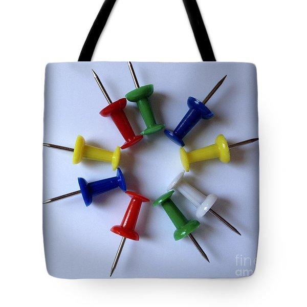 Push Pins Tote Bag by Cheryl Young