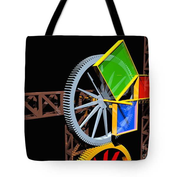 Pythagorean Machine Landscape 2 Tote Bag by Russell Kightley