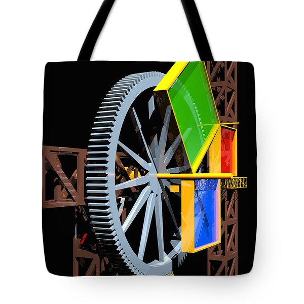 Pythagorean Machine Portrait 1 Tote Bag by Russell Kightley