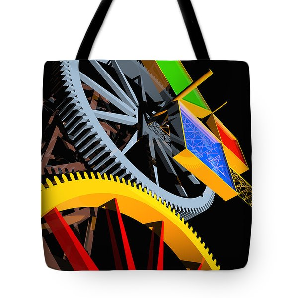 Pythagorean Machine Portrait 4 Tote Bag by Russell Kightley